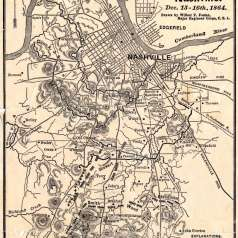 Battle of Nashville Map
