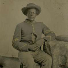 Carte de visite of US Colored Cavalry Sgt. Dick Johnson