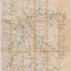 Benjamin F. Cheatham Map of Nashville and Surrounding Counties