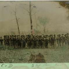 Hand-Colored Tintype of Co. D, 2nd Tennessee Cavalry Regiment