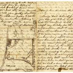 Battle of Spring Hill Letter and Map