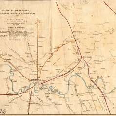 Map of Shelbyville, Wartrace and Normandy, 1863