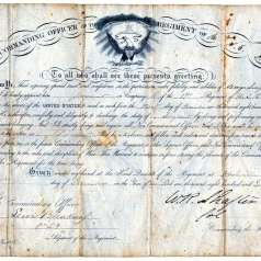 Appointment of George Singleton as sergeant in USCT regiment
