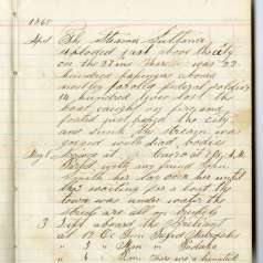 Diary entry describing the aftermath of the Sultana explosion