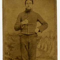 Cabinet card of Robert Caruthers Maupin