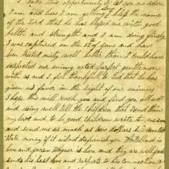 Letter from Asa D. Oakley in Northern prison camp to