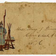 Letter from Soldier with Illustrated Envelope