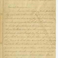 Letter from Mary Rooker to General William Rosecrans