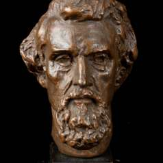Plaster study for head of Nathan Bedford Forrest statue