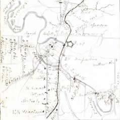 Map of Franklin, Tennessee, 1864