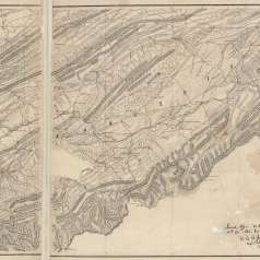 Map of East Tennessee, north of Loudon, 1864
