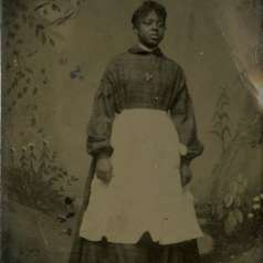 Tintype of an African American Woman