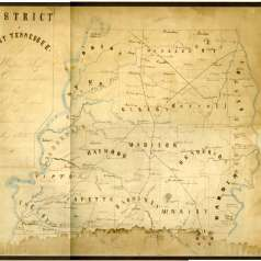 Hand-Drawn Civil War Map of West Tennessee