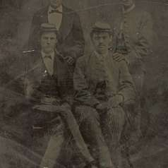 Tintype of Four Soldiers