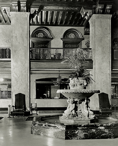 An historic photo of the Peabody Memphis' lobby.