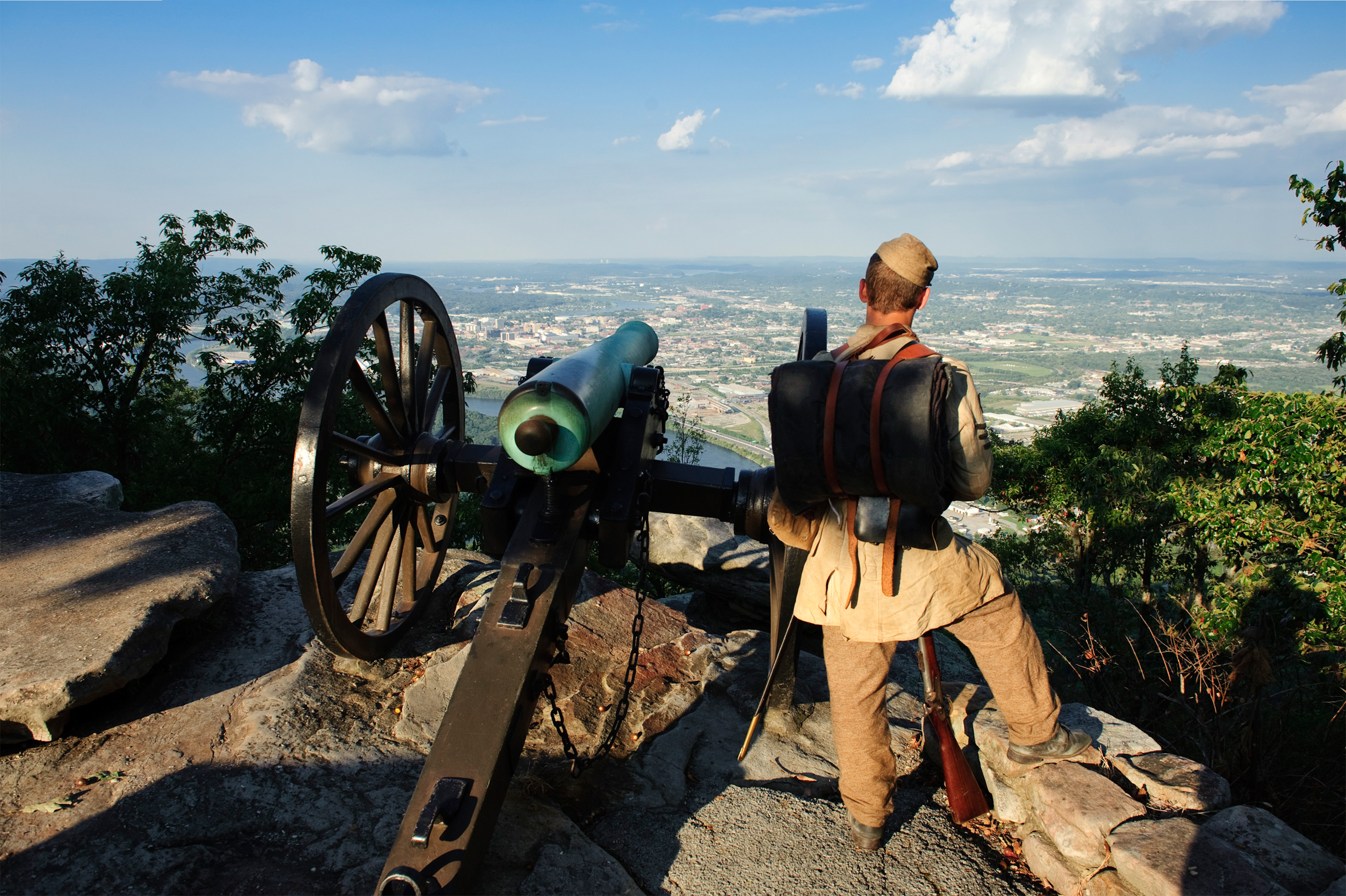 Battle of Chickamauga at Point Park in Chattanooga, Tennessee