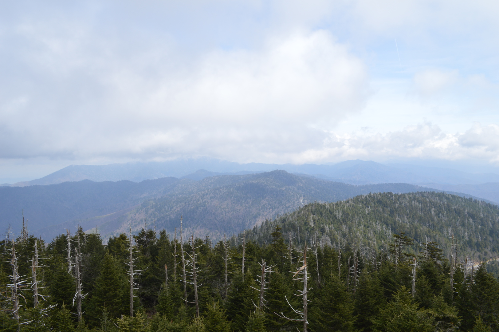 Clingmans Dome view, Great Smoky Mountains National Park
