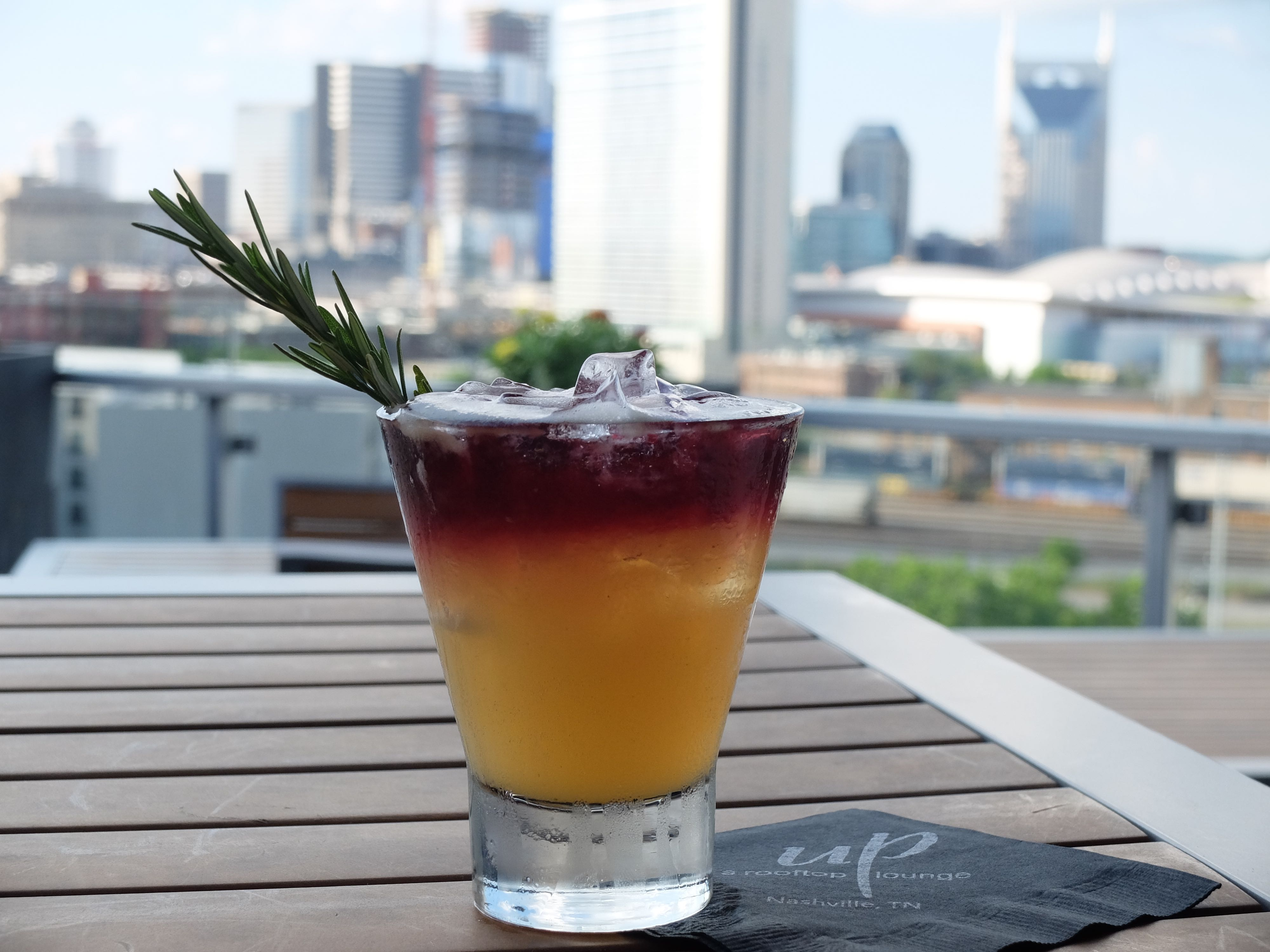 Cocktail at Up, a rooftop lounge