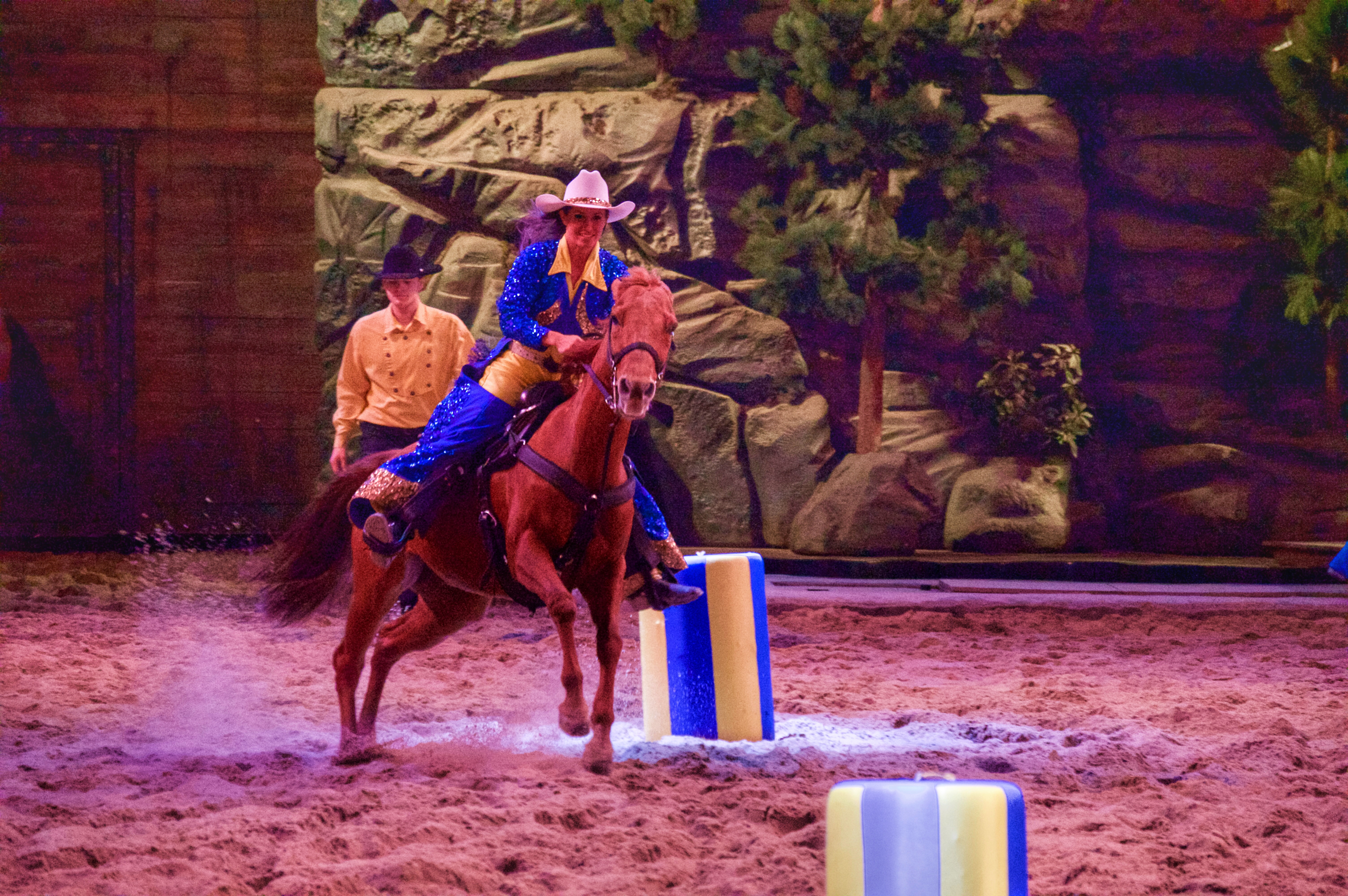 Barrel racing at Dolly Parton's Stampede