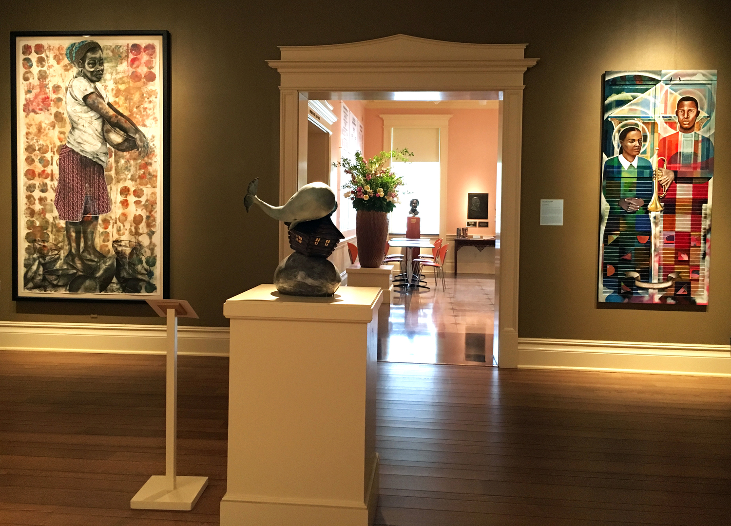 Inside the museum at Dixon Gallery & Gardens