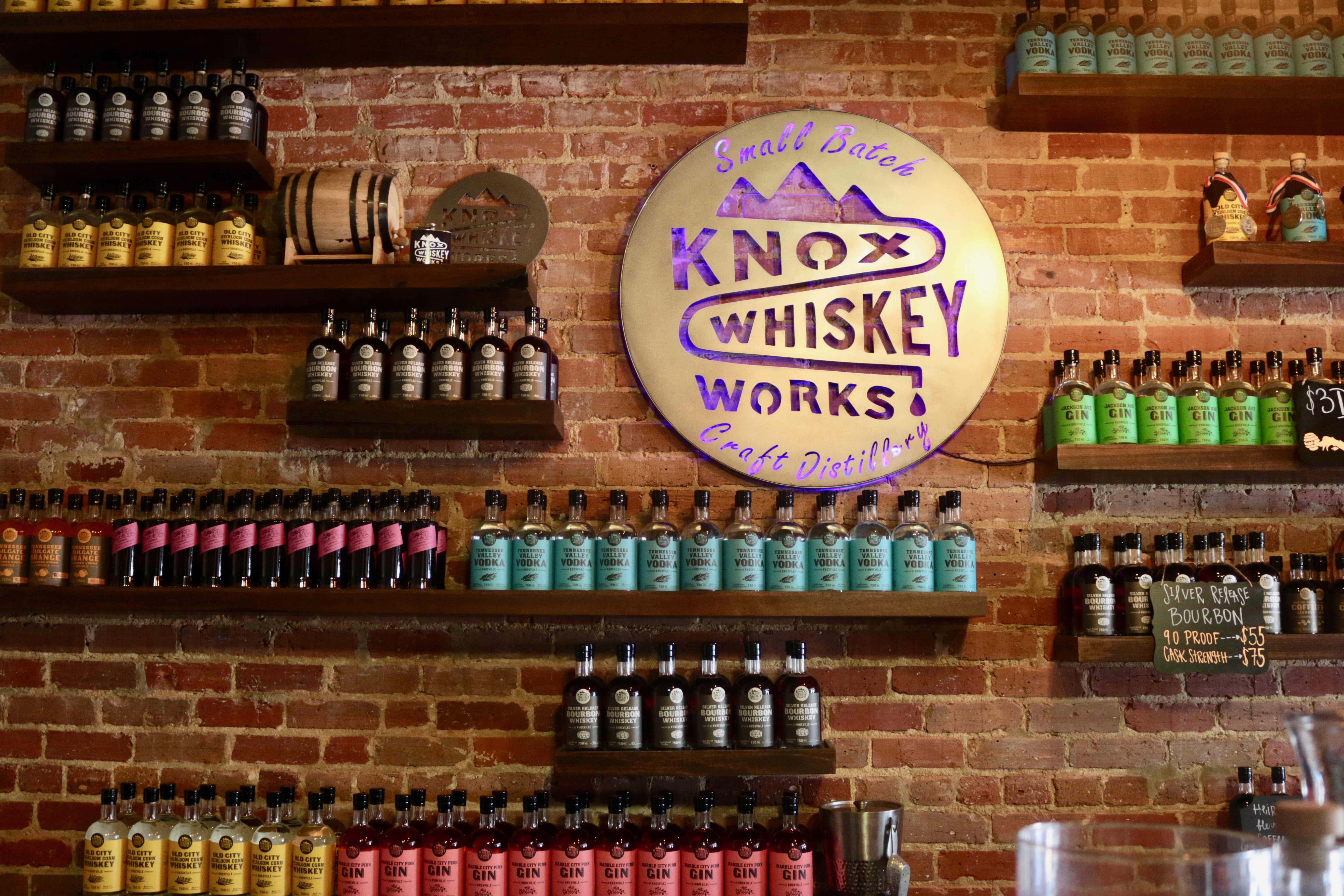 Enjoy a taste of East Tennessee at Knox Whiskey Works. Photo credit: Greta Hollar