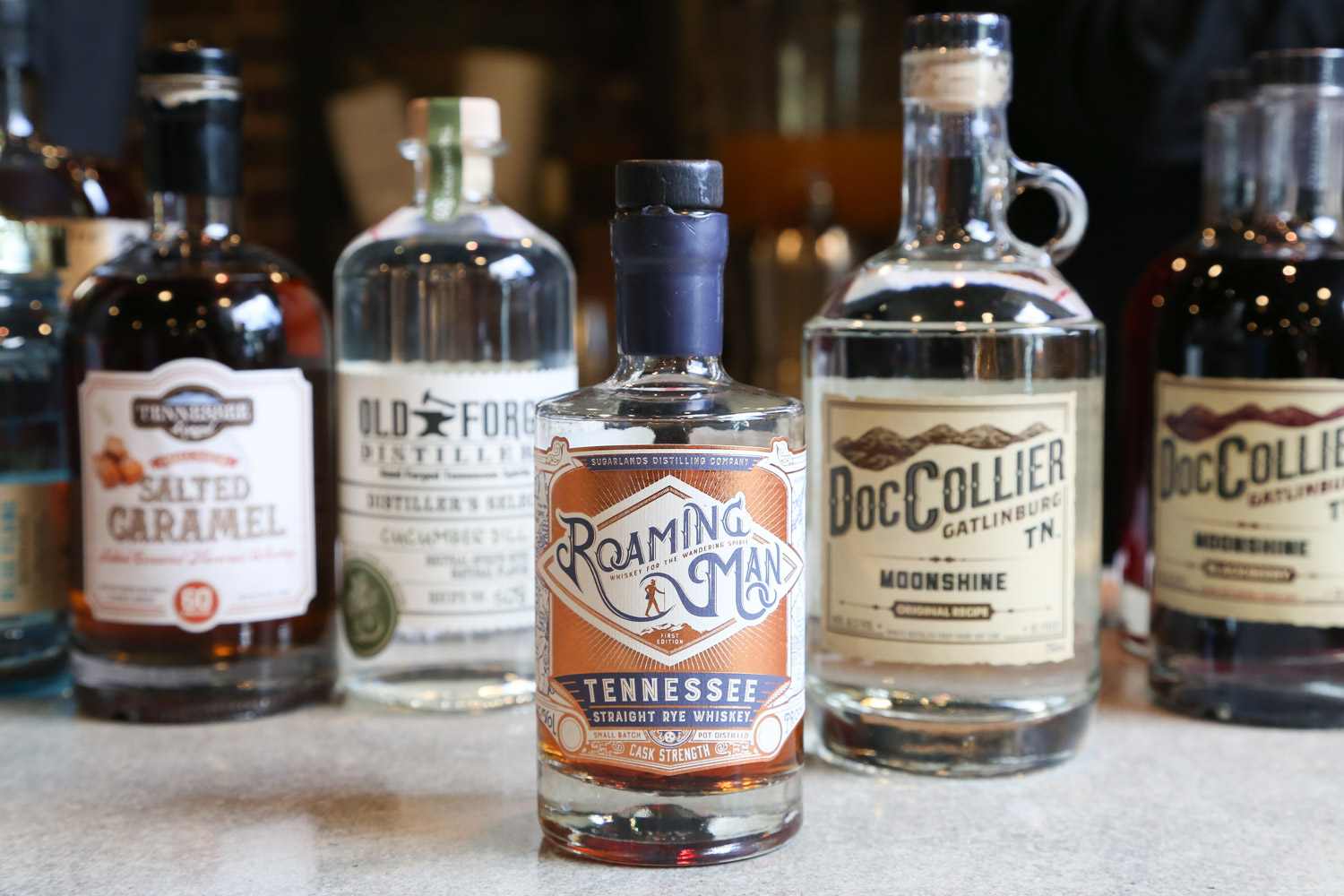Whiskey products found on the Tennessee Whiskey Trail
