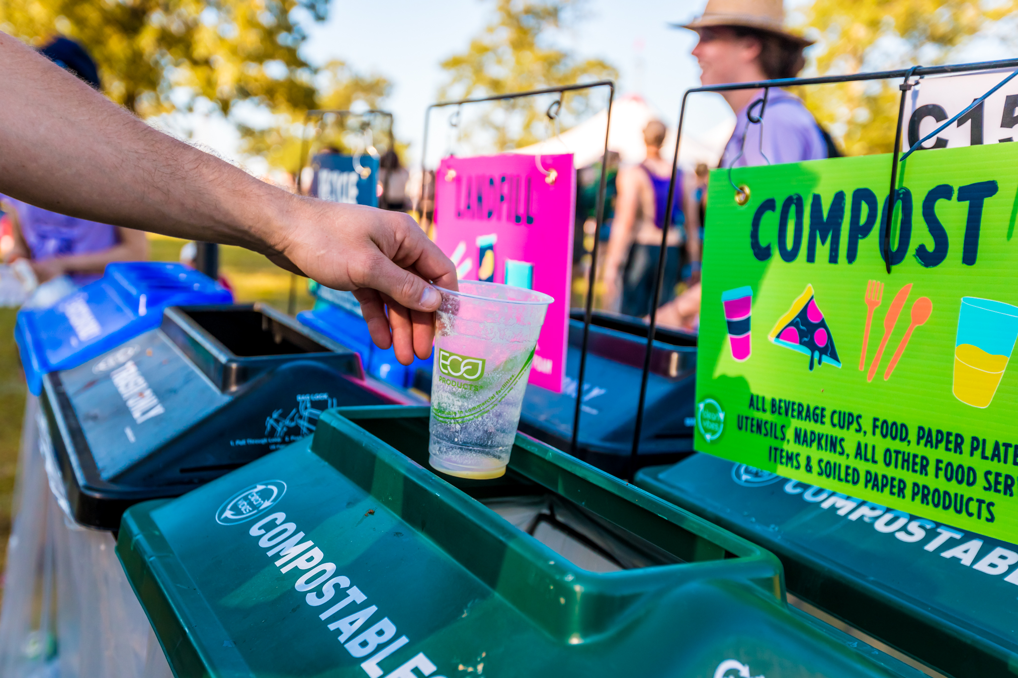 Recycle and reuse while listening to music at Bonnaroo.