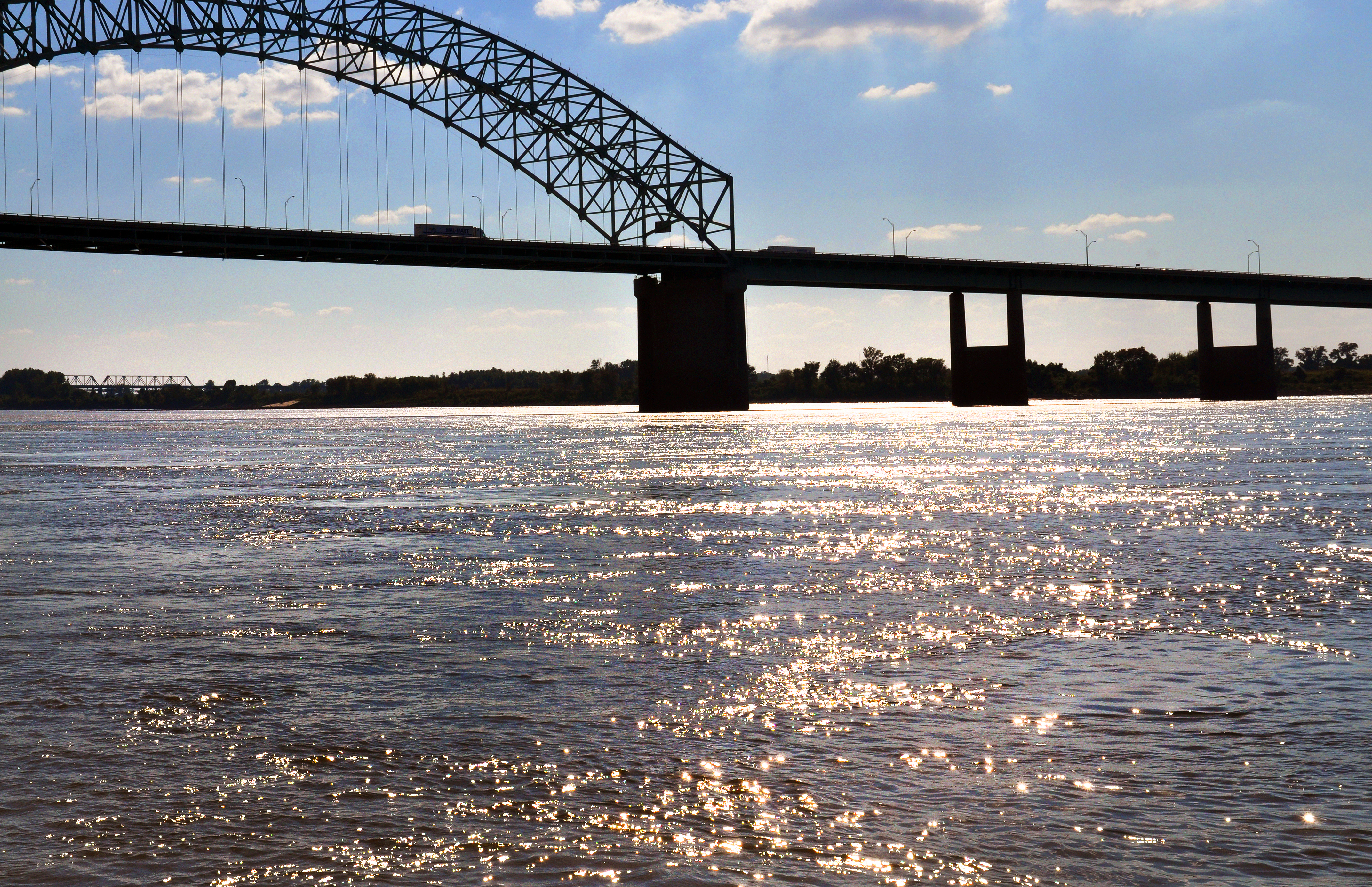 Fishing on Mississippi River in Memphis, Tennessee
