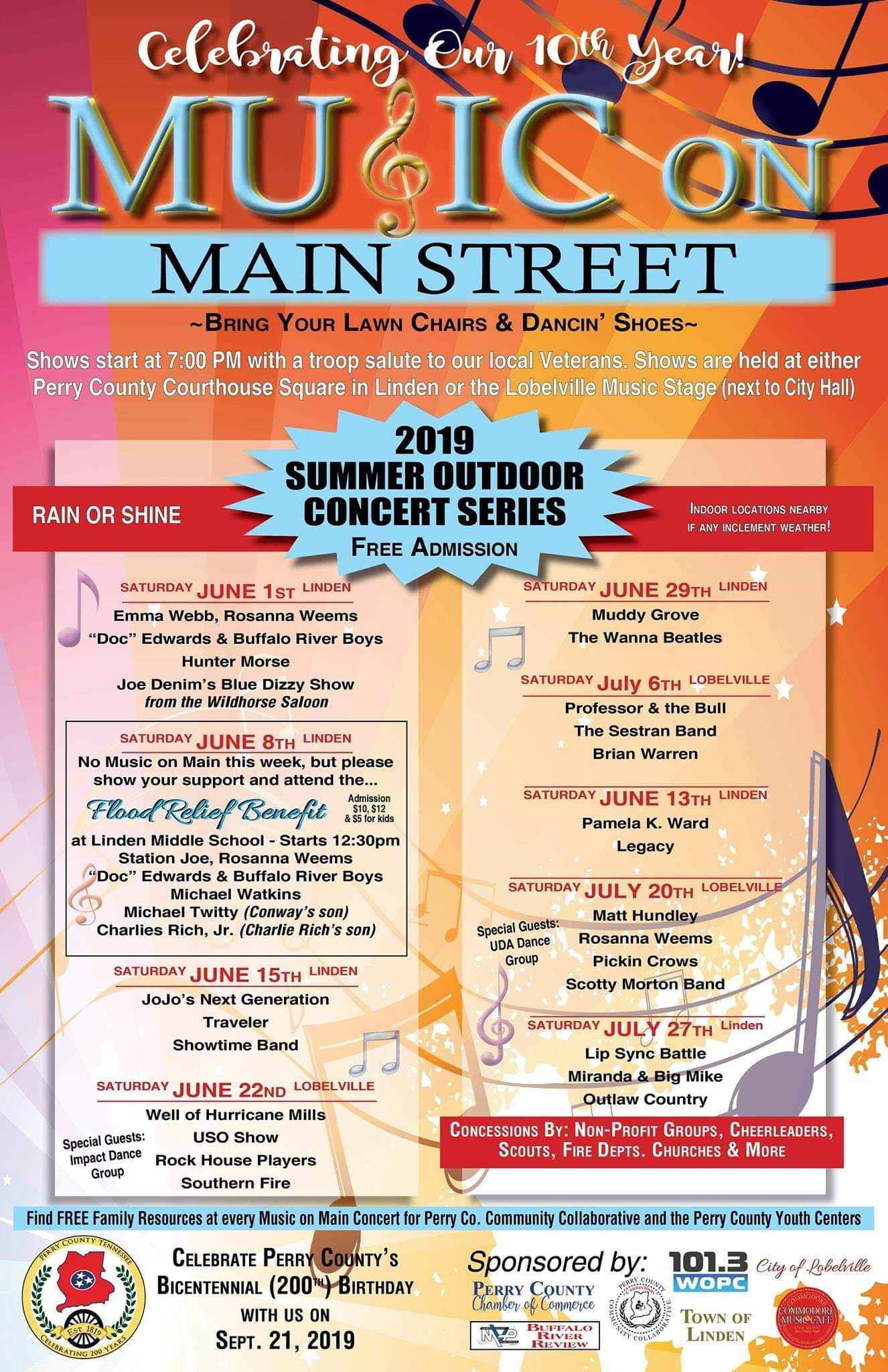 Music on Main Street Poster