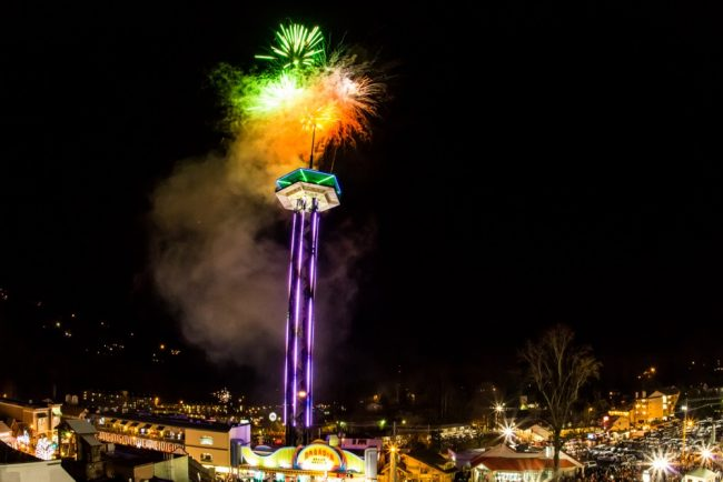 New Year's Eve celebrations in Gatlinburg