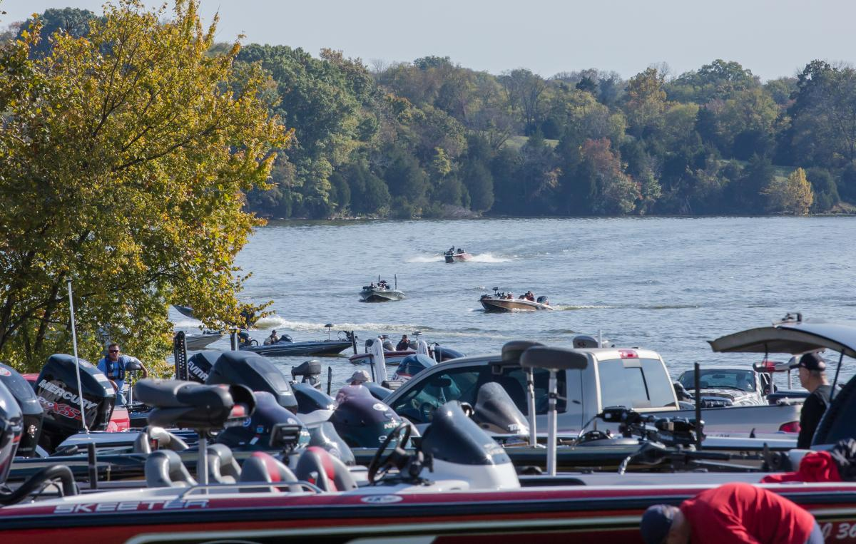 Top anglers on Old Hickory Lake, photo credit: TN Dept. of Tourist Development