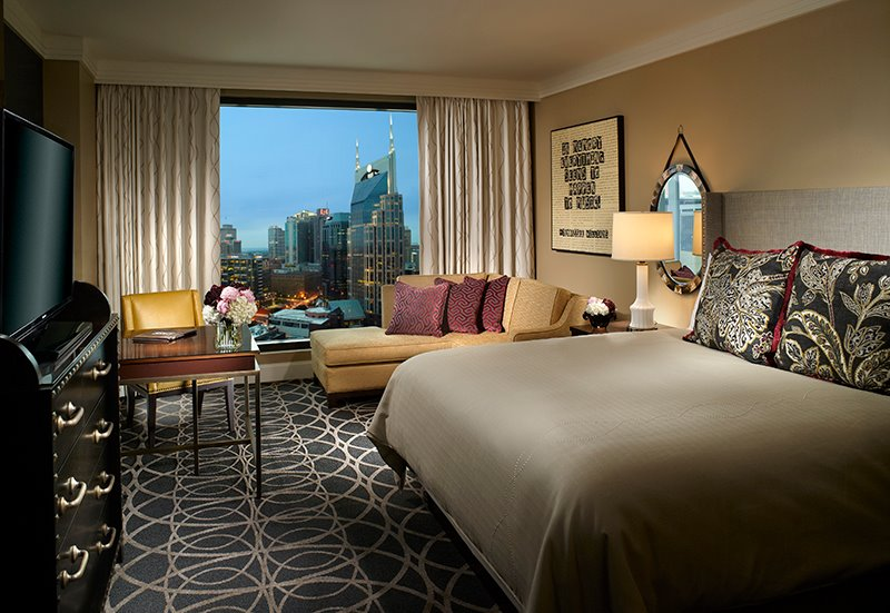Omni Hotel's luxurious accommodations. Photo credit: Omni Hotel Nashville