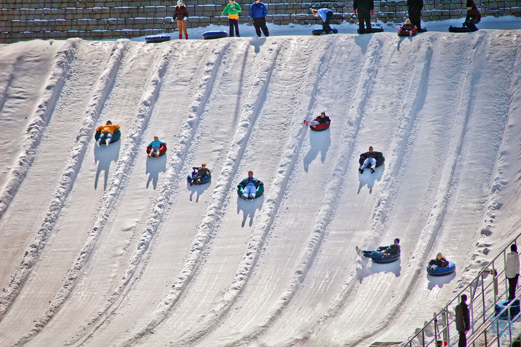 Snow tubing at Ober Gatlinburg, Gatlinburg, Tennessee