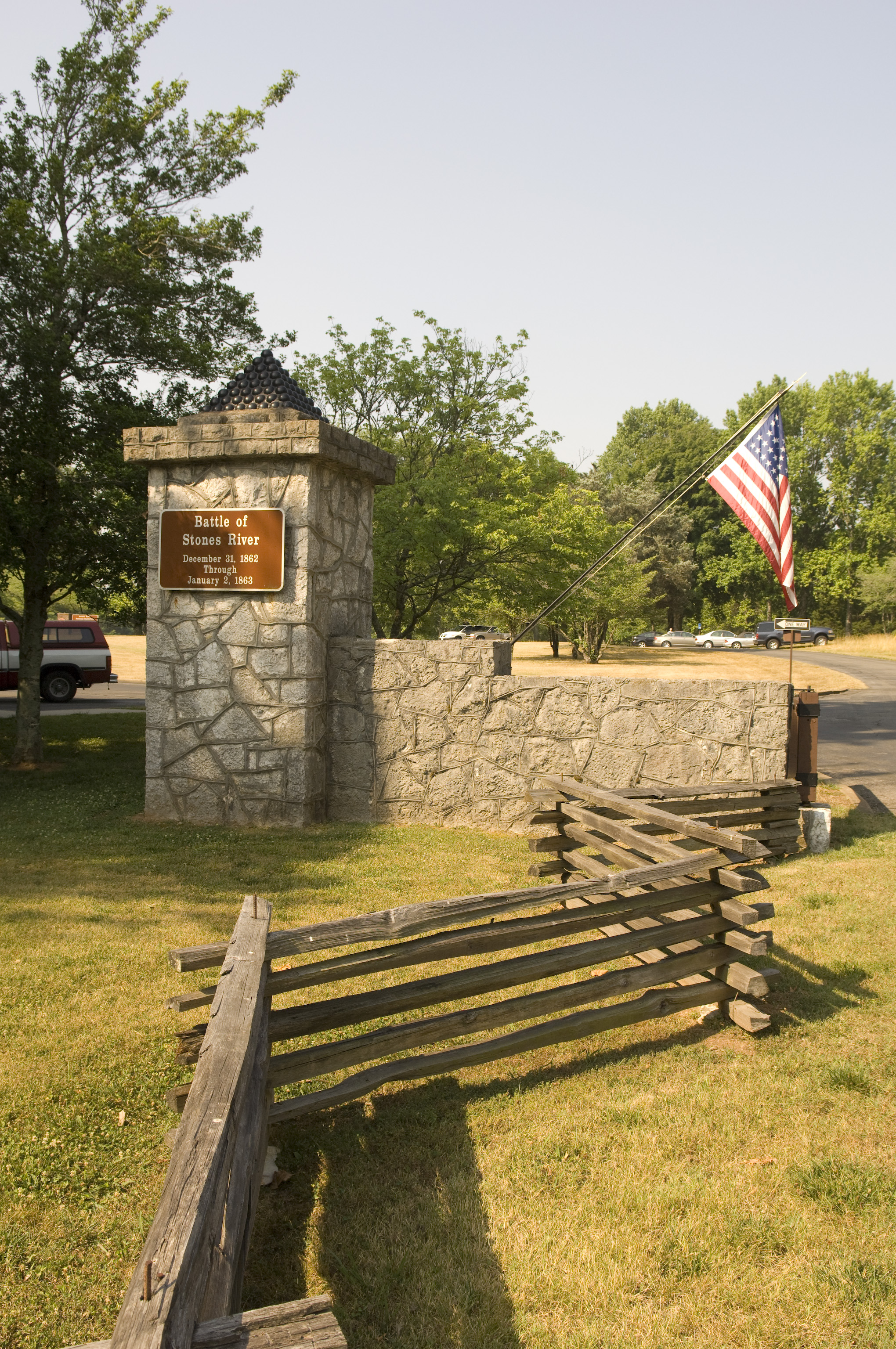 Stones River National Battlefield in Murfreesboro, Tennessee
