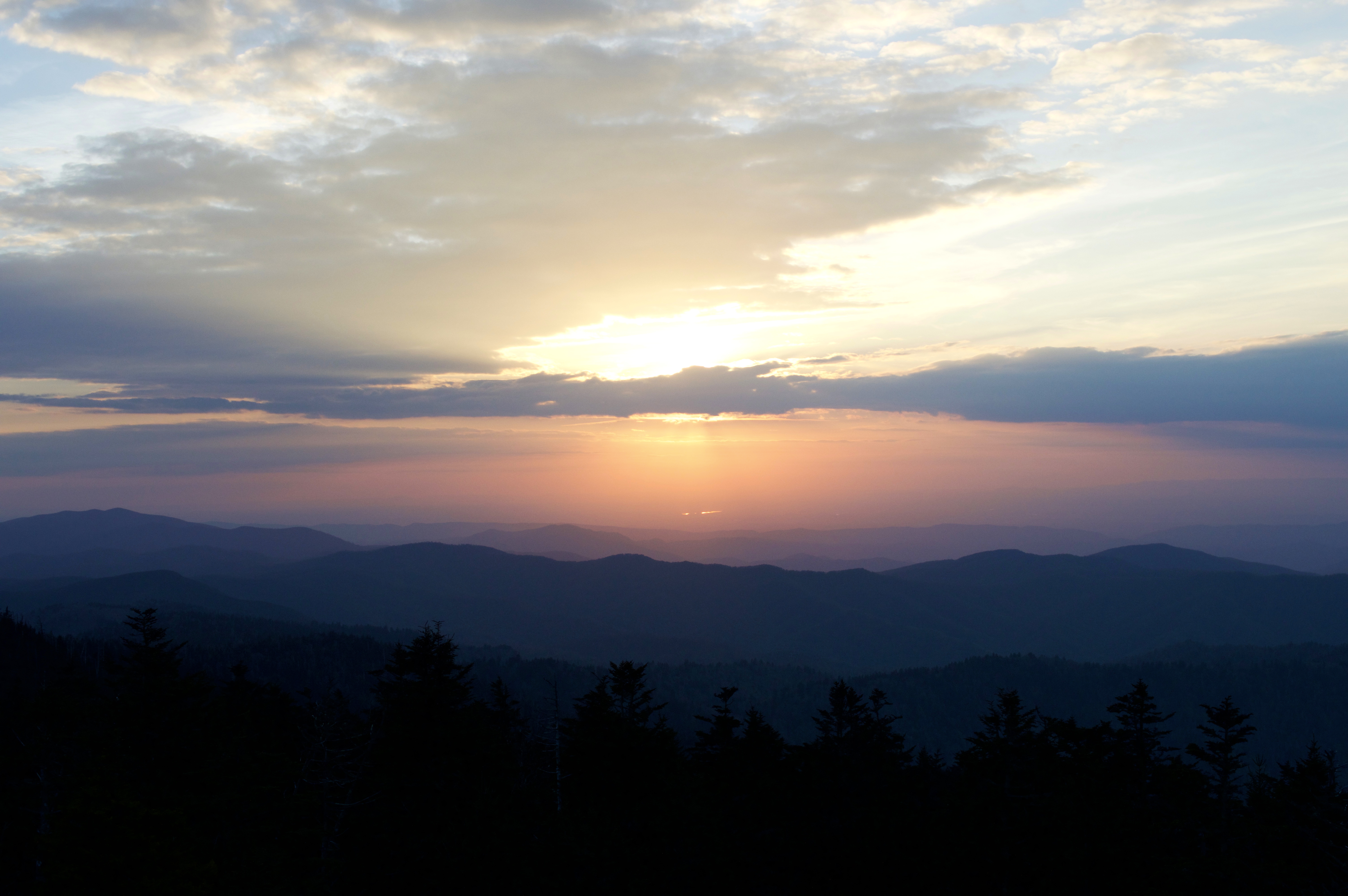 Sunset at Great Smoky Mountains National Park