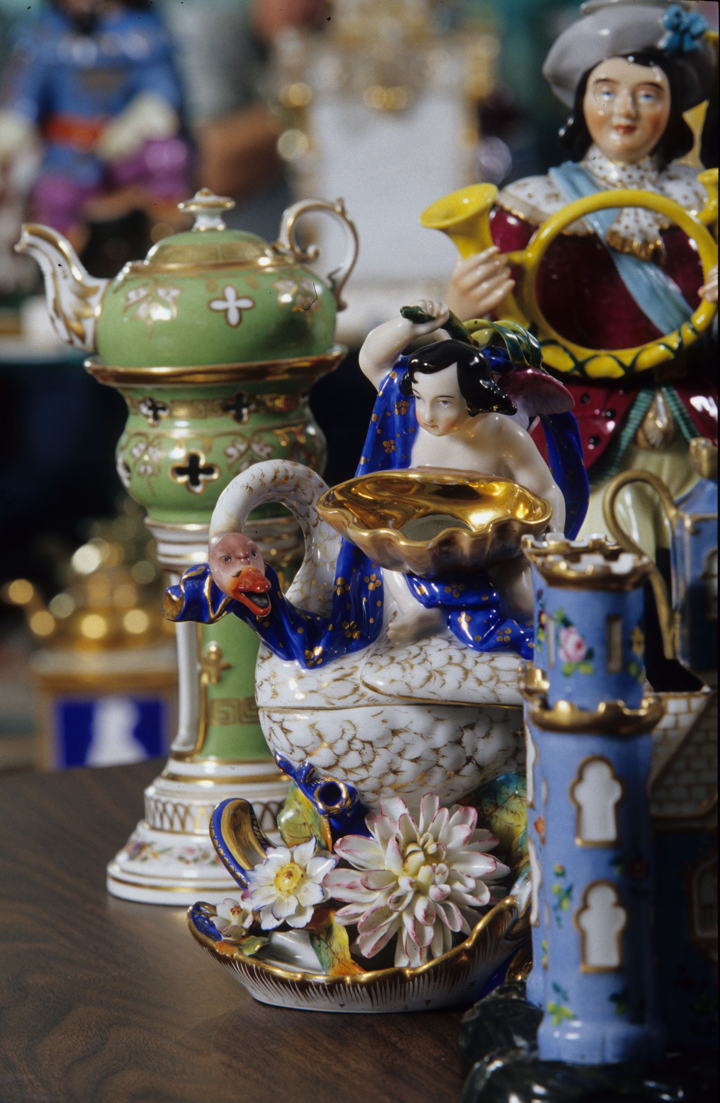 The rare teapot collection on display in Trenton, Tennessee