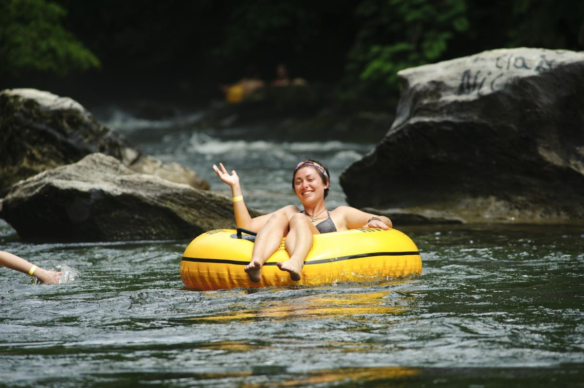 Cool off by tubing along Little River
