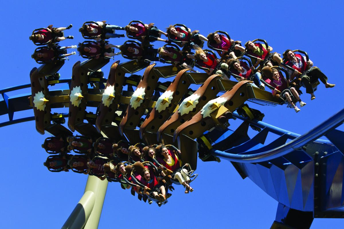 Soar high in the sky on Wild Eagle at Dollywood