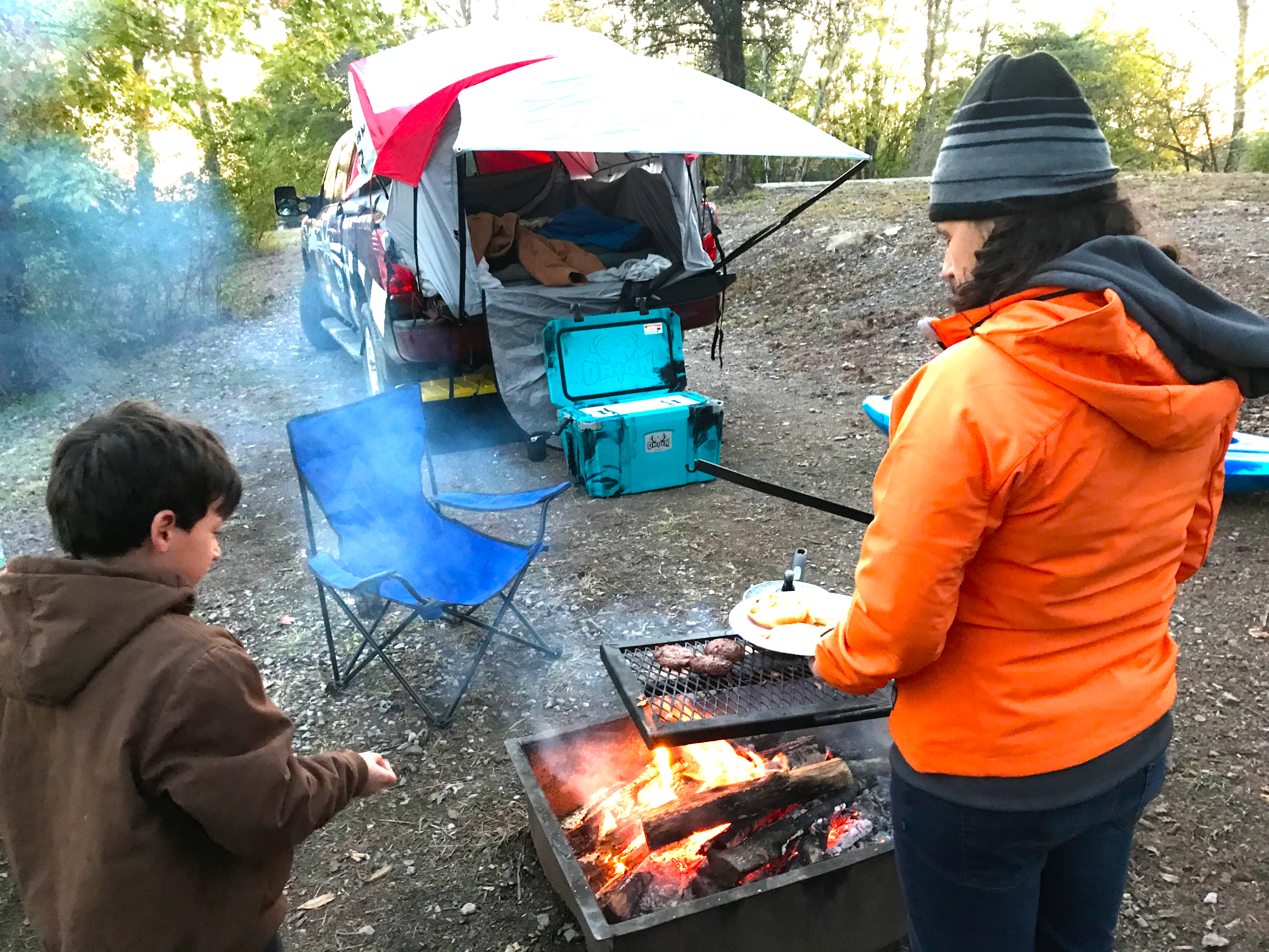Cooking at Windrock Park in Oliver Springs, TN