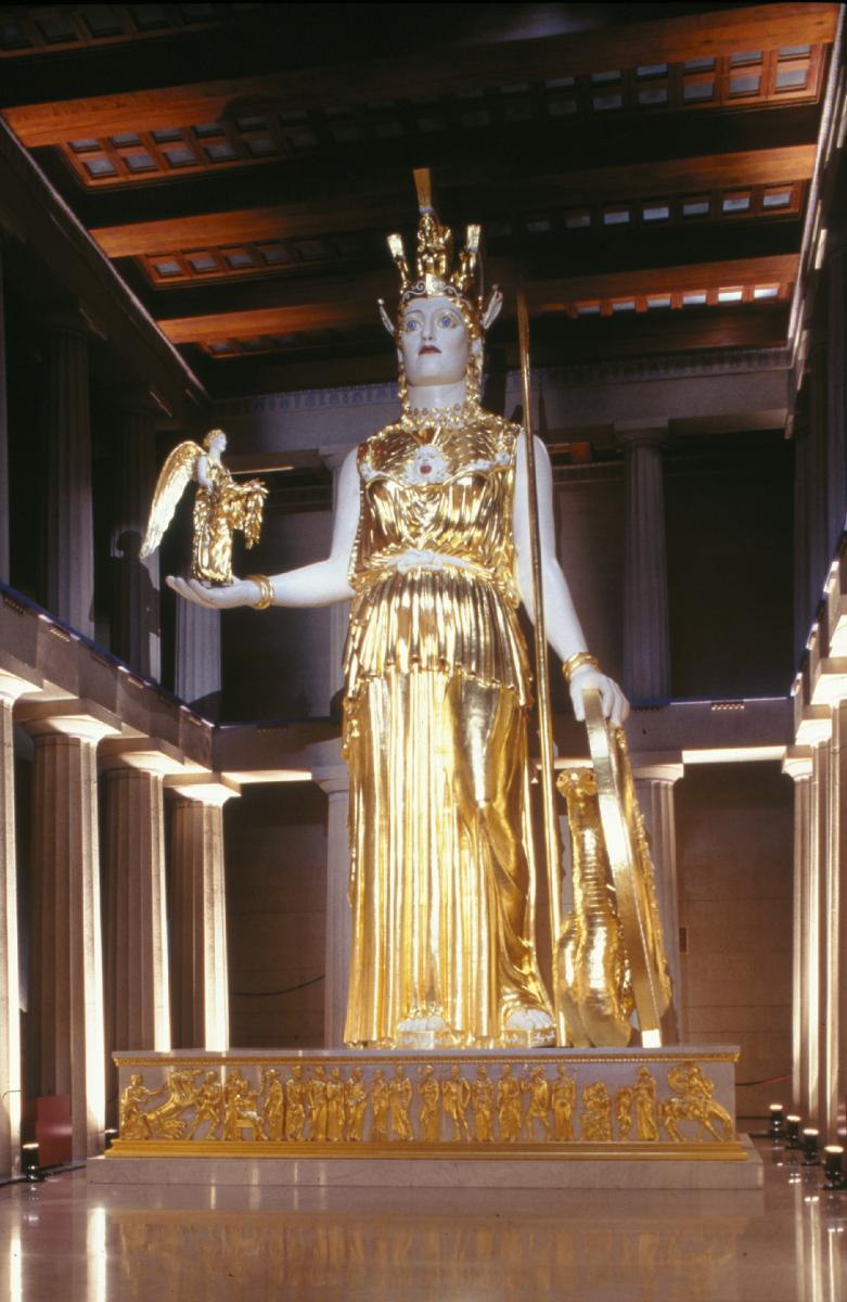 Recreation of Athena inside Nashville's Parthenon (Courtesy of Nashville Convention & Visitors Corporation)