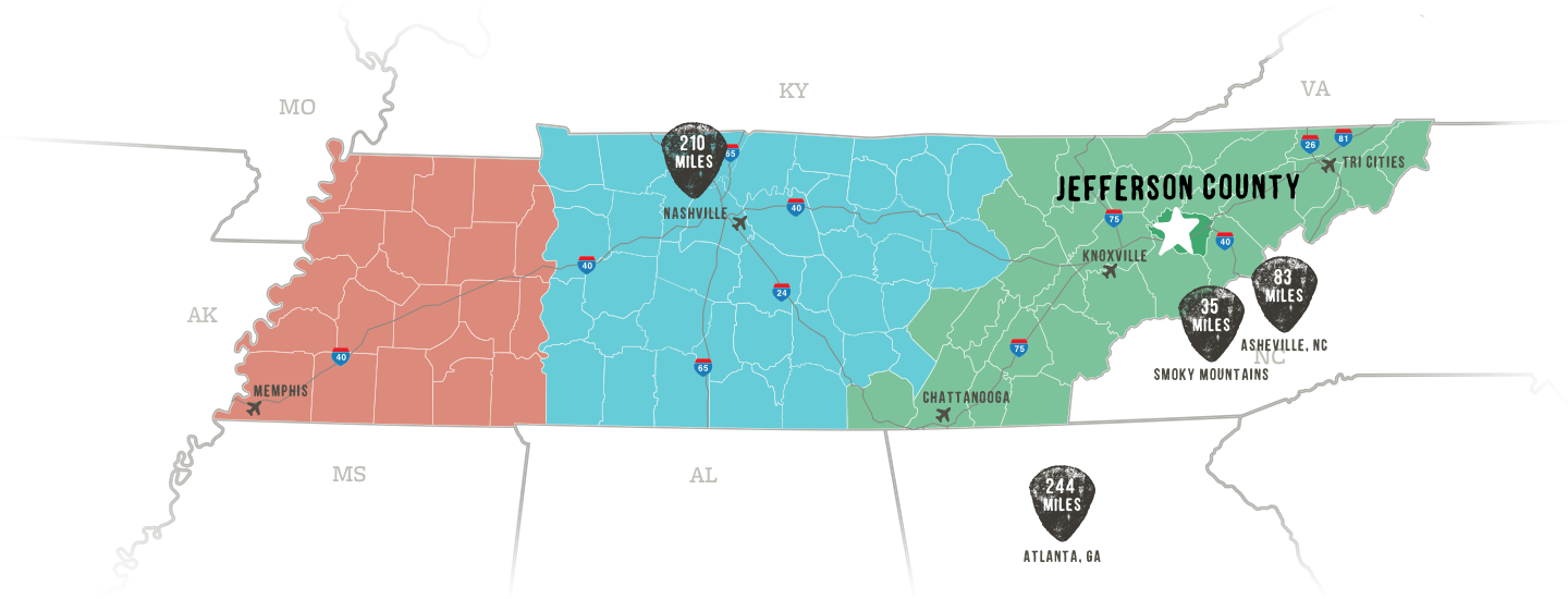 Jefferson County Map TN