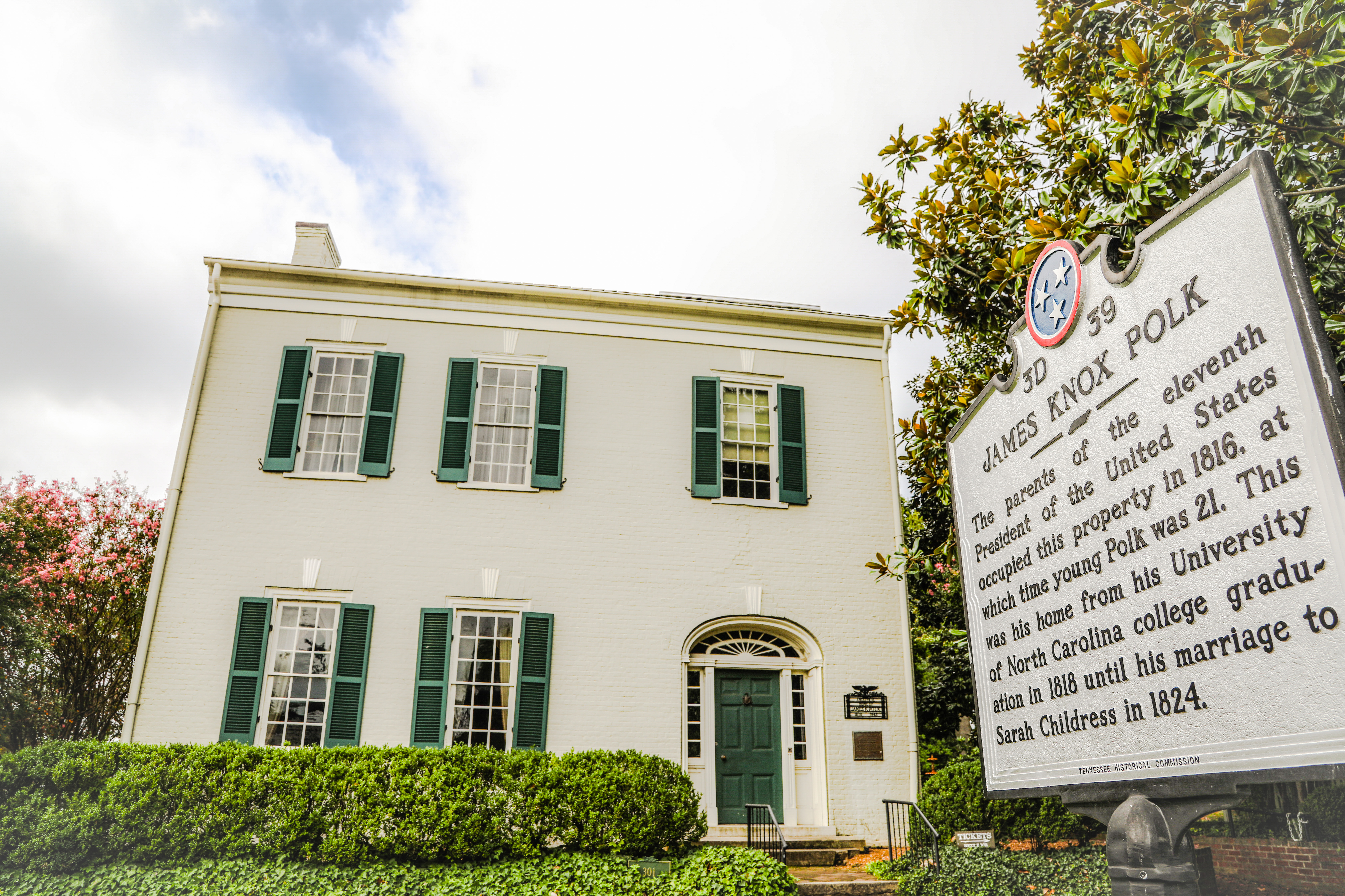 president james k polk ancestral home in columbia tn tennessee
