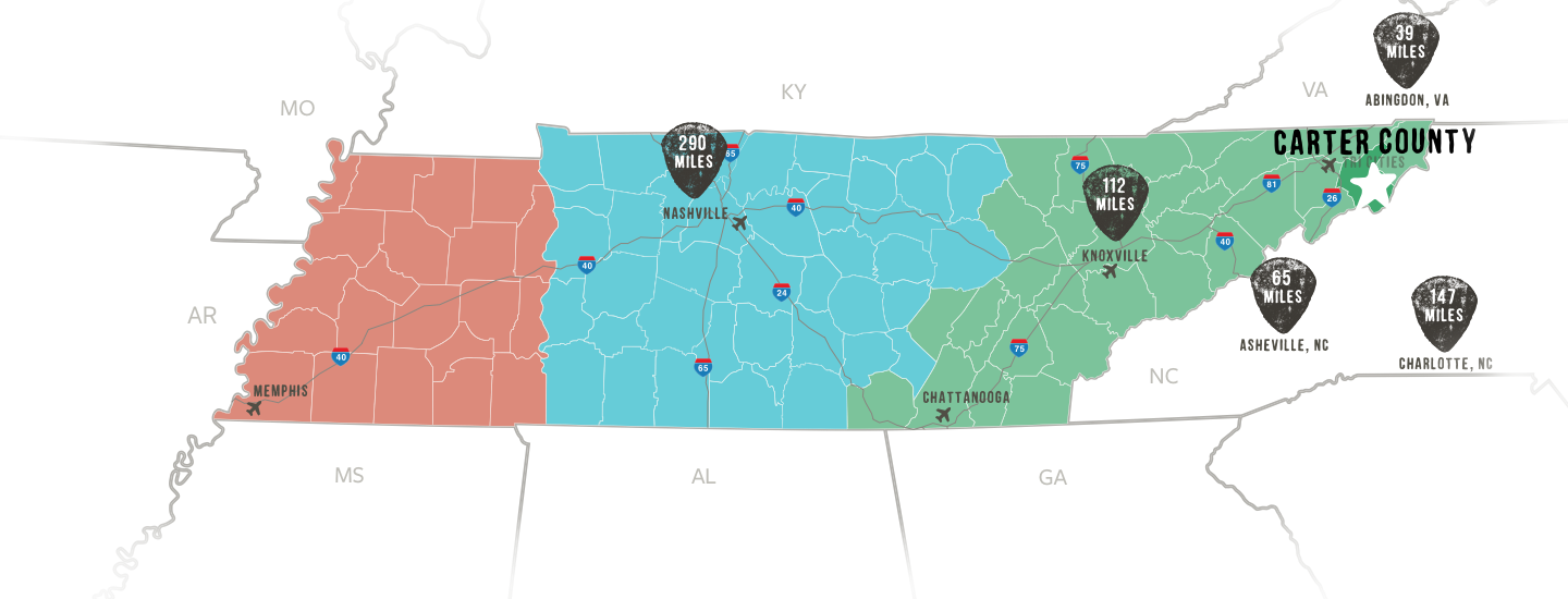 Carter County Map