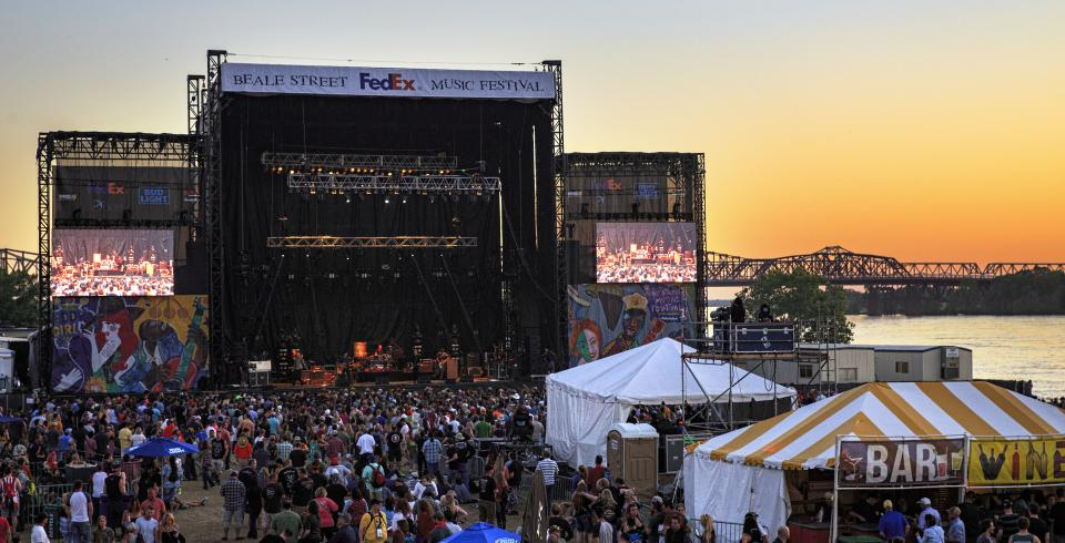 Beale Street Music Festival in Memphis. Photo credit: Mike Kerr