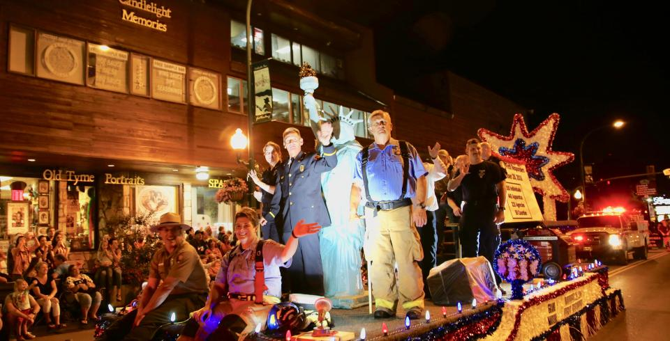 A float during Gatlinburg Midnight Parade