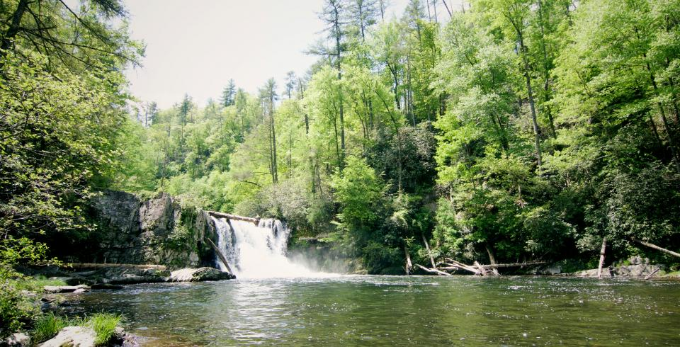 Abrams Falls in the Great Smoky Mountains National Park