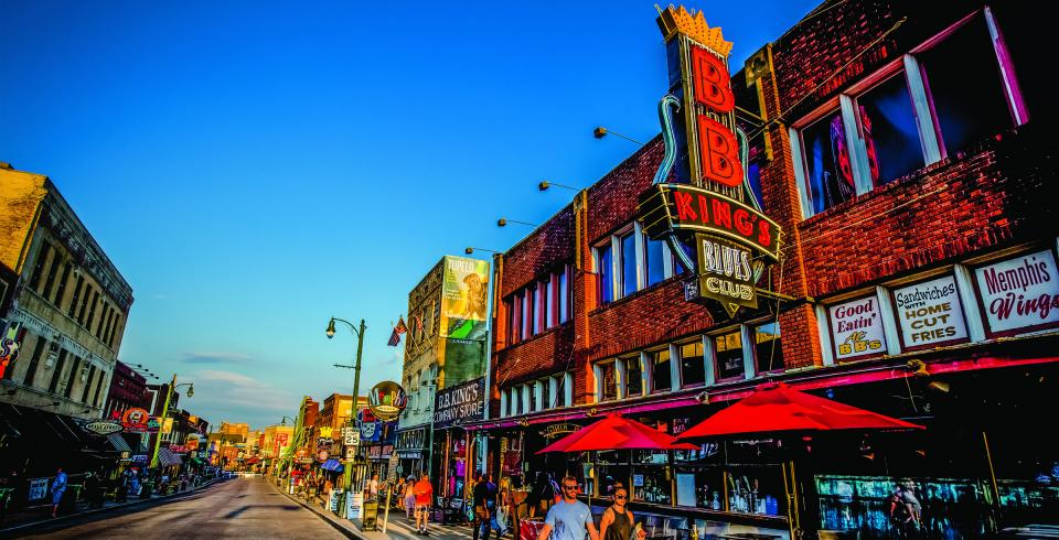 Historic Beale Street in Memphis, Tennessee