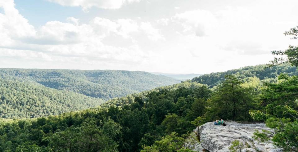 Mountain views at Bee Rock in Monterey, Tennessee