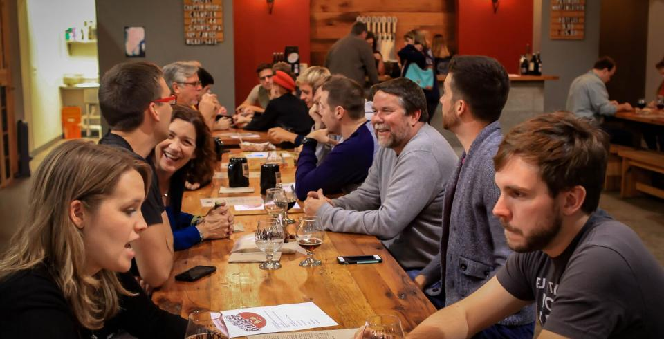 Spend some time with friends at Black Abbey Brewery's Fellowship Hall in Nashville.