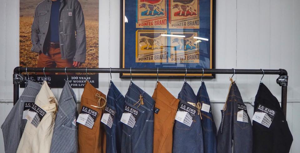 An assortment of workwear at LC King in Bristol